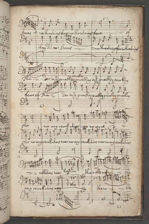 Autograph manuscript of 'The Yorkshire Feast Song'